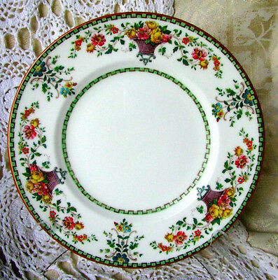 Wedgwood Killarney Luncheon Plate, Rose Basket Luncheon Plate W1146 Rare