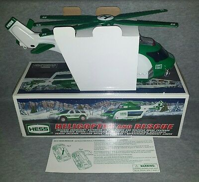 New 2012 Hess HELICOPTER and RESCUE Vehicle Set (Never played with) NIB