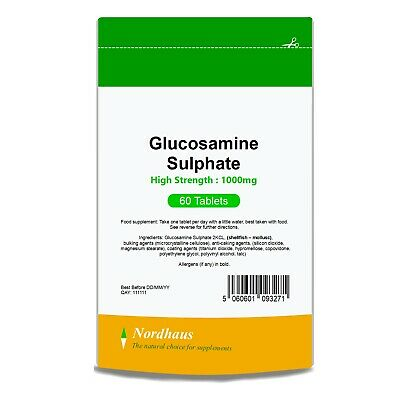 Glucosamine Sulphate 1500mg 60/120/180 Tablets (not capsules) Nordhaus