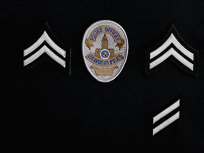 "LAPD Los Angeles Police badge-patch ""POLICE OFFICER"" no nypd fbi swat l-a-p-d-"