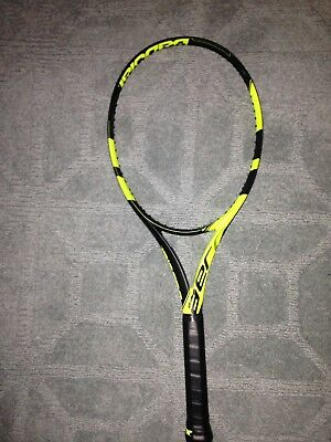 Babolat Pure Aero 4 3/8 Brand New No Cover On Grip Unstrung Bag not included