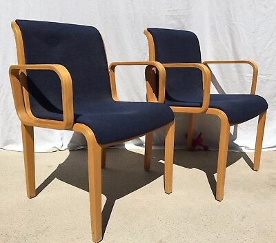 Two Knoll 1300 Series Arm Chairs by Bill Stephens