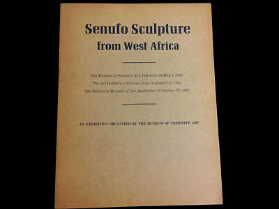 Senufo Sculpture From West Africa  1963 Museum Of Primitive Art Exhibit