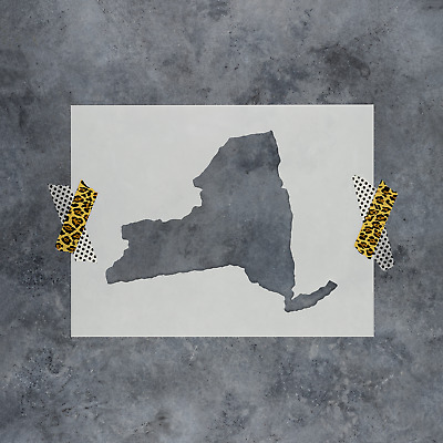 New York State Stencil - Reusable Stencils of New York State in Multiple Sizes