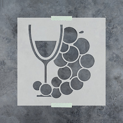 hobby present  grapes wine etch Grape stencils for etching on glass  craft