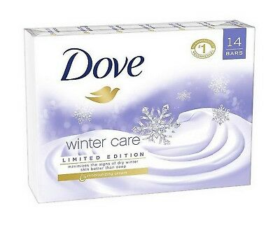 14 Bar Pack Dove Soap Winter Care Beauty Bars Limited Edition 4 oz each