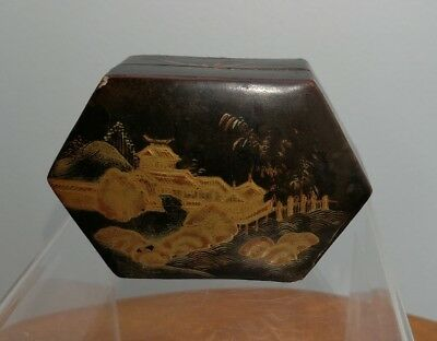 Antique Chinese Oriental lacquered box