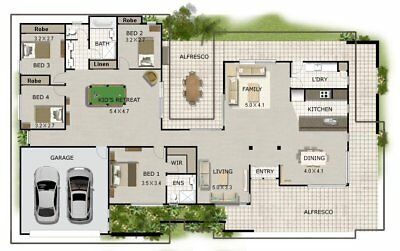 Kit Home Plan For Sale - 4 bedroom Acreage Style - 4 bed colional house plans