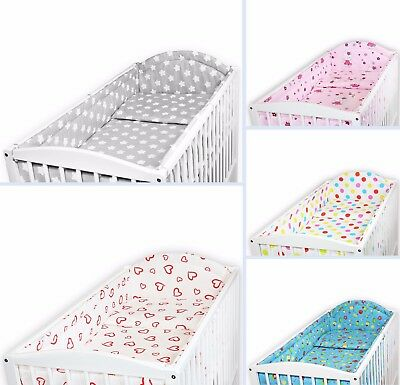 BABY BEDDING SET ALLROUND BUMPER COT 120x60 PILLOW DUVET COVER SET 2 3 5 6 PC