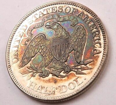 1875 Seated Liberty Half Dollar // BU+ *toned - proof like* // (H7884)