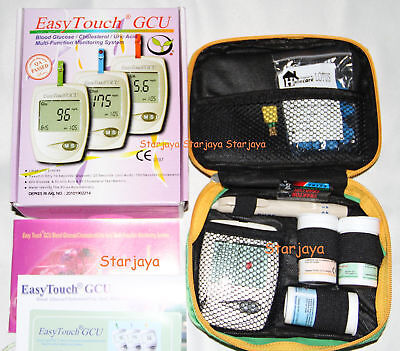 Easy Touch Blood Glucose Cholesterol Uric Acid 3 in 1 Meter + free 100 Lancet