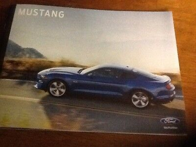 2018 Ford Mustang brochure new
