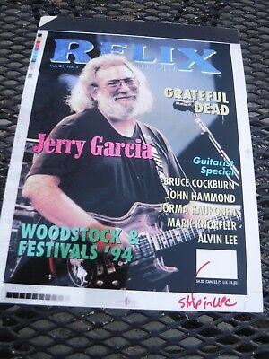 Grateful Dead/jerry Garcia-Relix Mag-4 Color Separation From Printing Plant-Rare