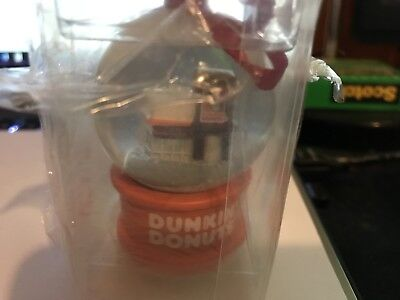 dunkin donuts christmas ornament Snow Globe 2013