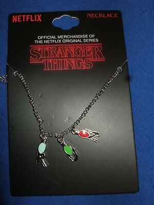 Netflix Original TV Series Stranger Things Run Xmas String Lights Charm Necklace