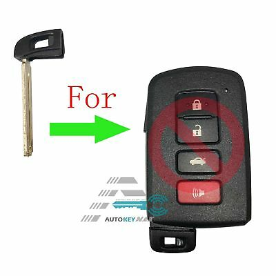 10Toyota Smart Key Prox Remote Emergency Blade Replacement Blank Insert HYQ14FBA