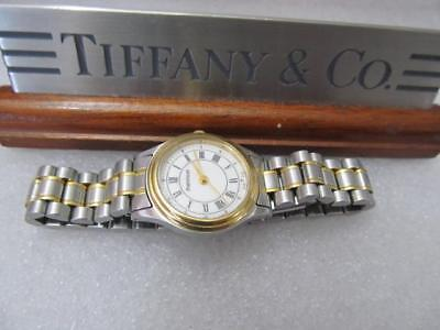 Tiffany & Co. Portfolio 18K Bezel Goldelectroplated Stainless Steel Ladies Watch