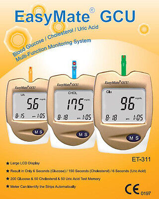 Blood Glucose Monitor Kit - Also Uric Acid & Cholesterol  - for bju_kq23