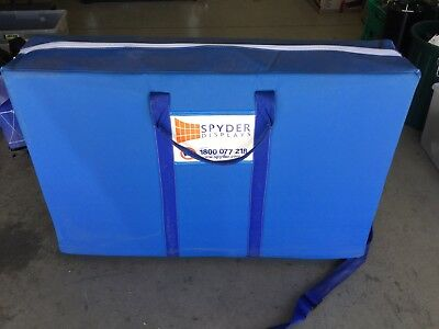 Spyder Fabric Display Board - Blue - 2 Heights - Stains on 1 side (see photos)
