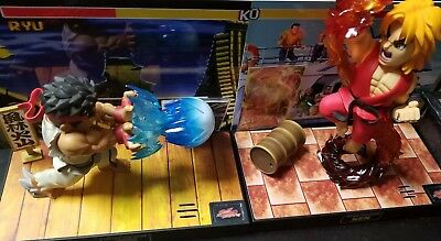 Big Boys Toys Street Fighter: Tier-1 Ryu and Ken Combo Set -open with boxes