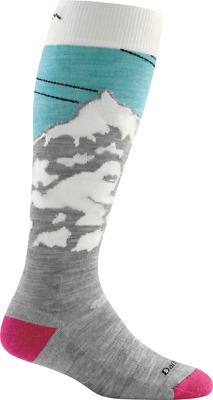 Darn Tough Women's Yeti Over-the-Calf Light, Glacier, M