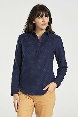 United By Blue W's Lore Wool Popover, Navy, M
