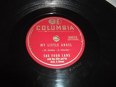 THE FOUR LADS My Little Angel / Standing On The Corner COLUMBIA 78 RPM VG