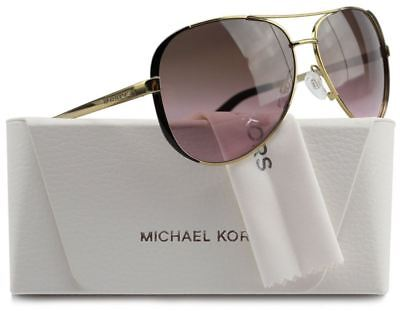 Michael Kors MK5004 Chelsea Aviator Sunglasses Gold w/Rose Gradient 59mm Authent
