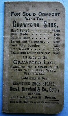 19th Century CRAWFORD SHOES Advertising Note Pad