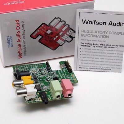 WOLFSON AUDIO CARD for the Raspberry Pi GPIO Terminal D Power Amplifier  On-Board