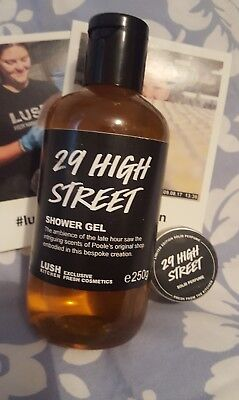 Lush Cosmetics 29 High Street Solid Perfume and shower gel