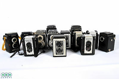 Lot of 13 Vintage TLR Cameras *AS/IS*