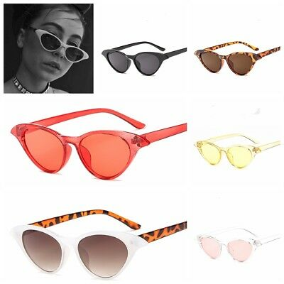 Trending Women Small Cat Eye Sunglasses Vintage Ladies Yellow Clear Lens Glasses