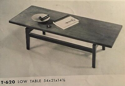 Jons Risom Furniture Collection Jens Risom T620 Low Table  Floating Top
