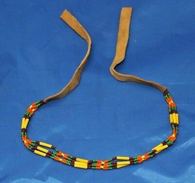 Vintage Native American Beaded Choker Or Necklace Snake River Drainage
