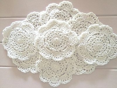 10 X  Bulk New 10 Cm White Crochet Lace Doilies