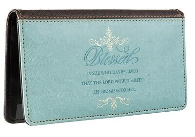 Checkbook Cover Blessed Is She Who Has Believed Luke 1:45
