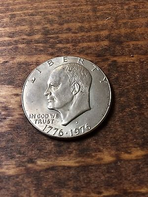 1976 Bicentennial Eisenhower Dollar-Circulated-Nickel Copper Clad-Coin-Currency