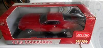 Model Car Sun Star 1971 Ford Mustang Sportsroof Metal Die Cast 1:18