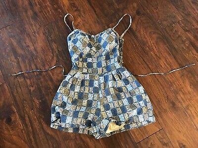 Vtg Cole Of California Swimsuit Playsuit Retro Rockabilly Designer Fifth Ave