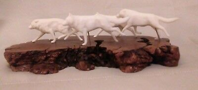 John Perry's Running Of The Wolves Wolf Pack Sculpture Collectible Animal Art