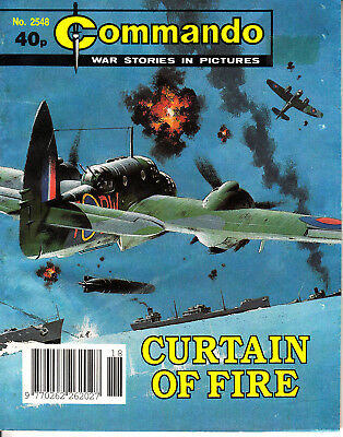 COMMANDO COMIC  War Stories in Pictures #2548 CURTAIN OF FIRE Action Adventure