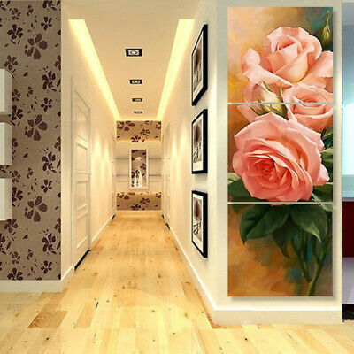 Modern Rose Canvas Prints Painting Art Wall Picture for Bedroom Wall XS-L