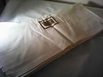 "Vintage white flat sheet from Penobscot, 81"" x 108"", percale, unused with tags"