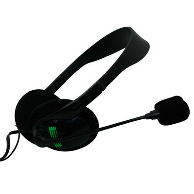 Light Weight 3.5mm Stereo Plug Headphone With Microphone For PC Computer Laptop