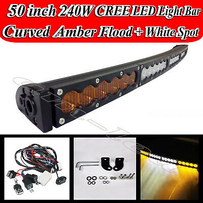 52Inch CREE LED Light Bar Spot Flood Combo OFFROAD UTE SUV 4WD ATV FORD JEEP 50