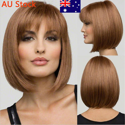 Women Cosplay Fancy Short Wig Ladies Girls Straight Synthetic  Natural Bob Hair