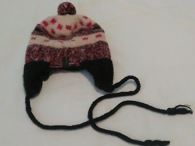 Seirus Saddlebred Ski Snow Baby Hat Knit Peruvian Style Lined Ear-Flaps