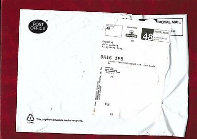 Royal Mail 48 official Post Office plastic envelope 2017
