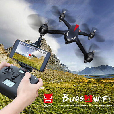 MJX B2W Bugs2 2W 2.4G 6-Axis Independent ESC 1080P HD Camera RC Quadcopter GPS